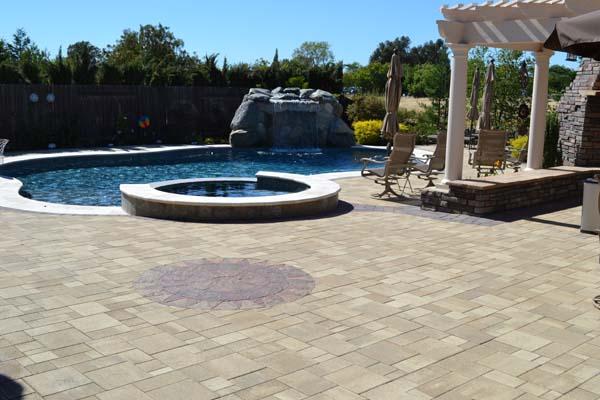 Paver Stone Pool Deck